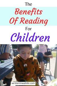the benefits of reading for children pinterest