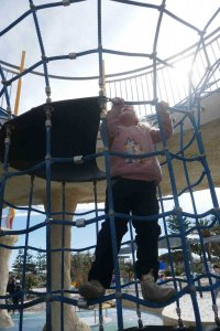 why you are stronger than you think, girl climbing playground